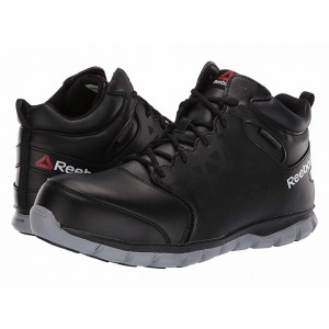 Reebok Work Sublite Cushion Work Mid Comp Toe EH Black/Grey - Sale