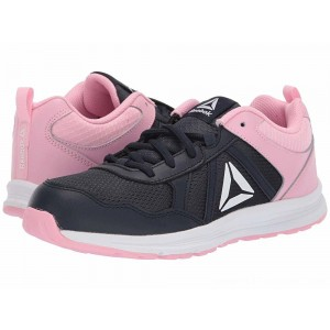 Reebok Kids Almotio 4.0 (Little Kid/Big Kid) Navy/Light Pink - Sale