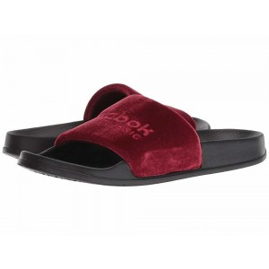 Reebok Lifestyle Classic Slide Collegiate Burgundy/Cranberry Red/Black/White/Velvet - Sale
