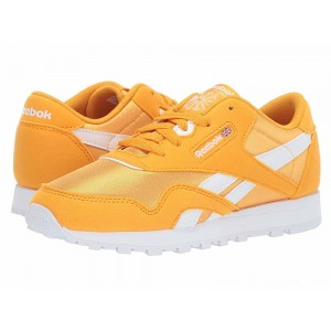 Reebok Kids Classic Nylon MU (Little Kid) Gold/White - Sale