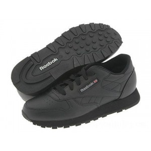 Reebok Kids Classic Leather (Little Kid) Black - Sale