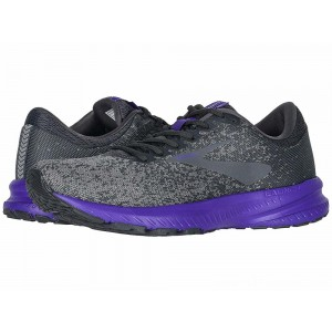 Brooks Launch 6 Ebony/Shark/Violet - Sale