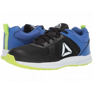 Reebok Kids Almotio 4.0 (Little Kid/Big Kid) Black/Lime/Cobalt/White - Sale