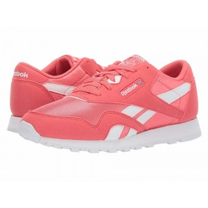 Reebok Kids Classic Nylon MU (Big Kid) Bright Rose/White - Sale