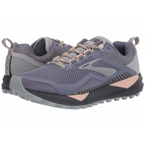 Brooks Cascadia 14 Grey/Pale Peach/Pearl - Sale