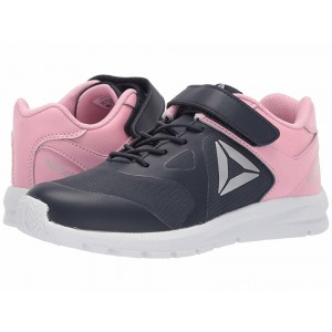 Reebok Kids Rush Runner A/C (Little Kid) Navy/Light Pink - Sale