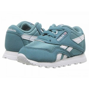 Reebok Kids Classic Nylon MU (Infant/Toddler) Mineral Mist/White - Sale