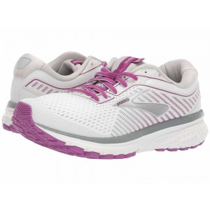 Brooks Ghost 12 White/Grey/Hollyhock - Sale