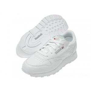 Reebok Kids Classic Leather (Big Kid) White - Sale