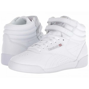 Reebok Kids Freestyle Hi (Big Kid) White - Sale