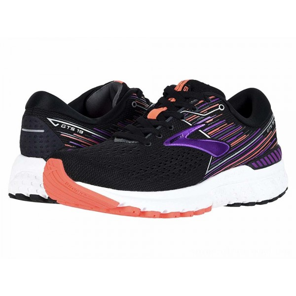 Brooks Adrenaline GTS 19 Black/Purple/Coral - Sale