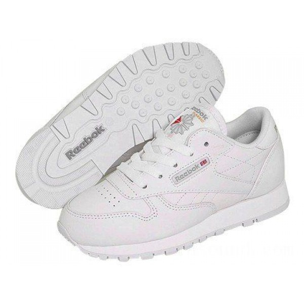 Reebok Kids Classic Leather (Little Kid) White - Sale