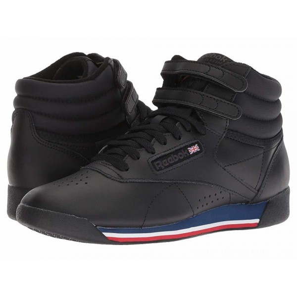 Reebok Lifestyle Freestyle Hi Black/White/Bunker Blue/Primal Red/Coal - Sale