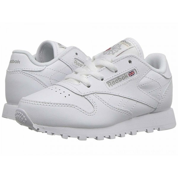 Reebok Kids Classic Leather (Infant/Toddler) White - Sale