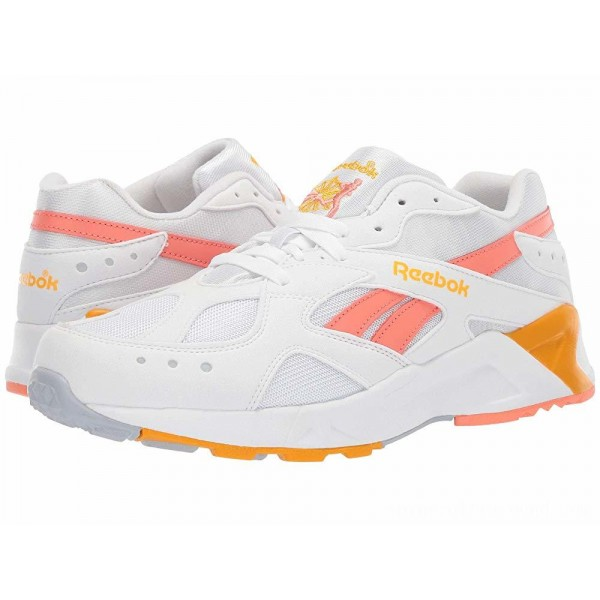 Reebok Lifestyle Aztrek Bright Pop White/Stellar Pink/Gold/Grey - Sale