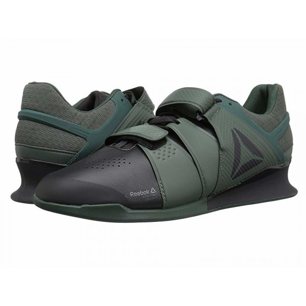 Reebok Legacy Lifter Coal/Chalk Green/Industrial Green - Sale